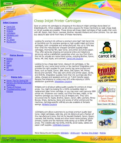 Site Review: InkJetdeals.info