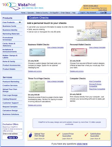 free checks from vistaprint (coupon) | techburgh