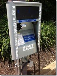 Giant Eagle installs Vehicle Charging stations in Parking Lots