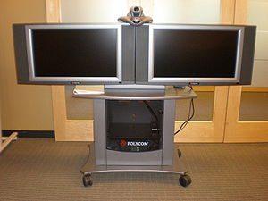 A Polycom VSX 7000 camera used for videoconfer...