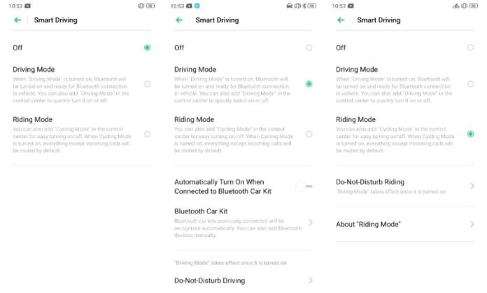 Smart Driving ColorOS 6