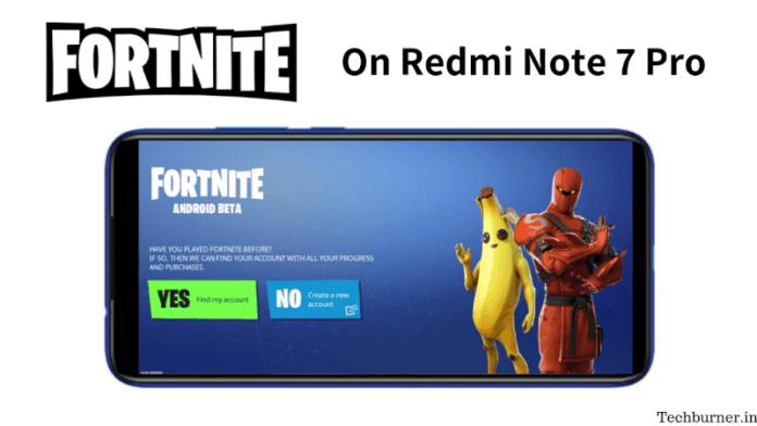 Fortnite On Redmi Note 7 Pro