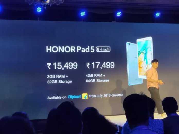 honor pad 5 8-inch
