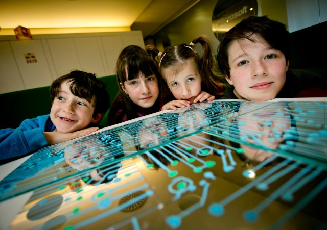 NEWS/BUSINESS 19102016 NO FEE FOR REPRODUCTION Microsoft is encouraging more European students to get engaged in computer science and boost their coding skills this week. Students and teachers will be joining in a series of events taking place across 14 European countries as part of Europe Code Week 2016. In Dublin, Microsoft hosted a special CoderDojo session at its offices in Sandyford. Students heard from Stephen Howell, Microsoft Coding Guru, and Mags Amond, EU Code Week Ambassador to Ireland. They also got the opportunity to hear from two CoderDojo Ninjas who shared their experiences from their recent trip to Brussels to take part in a Microsoft EU Code Week event. For more information about Europe Code Week, please visit www.codeweek.eu. Pictured at the event were Sam (8), Charis (10), Molly (6) and Jack (12) Howell all from Dunleer Co Louth. Photo Chris Bellew / Fennell Photography