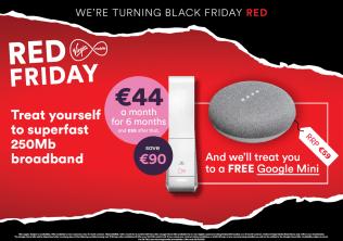 Red Friday Broadband Offer