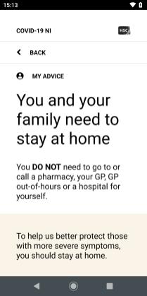 COVID-19 NI - advice