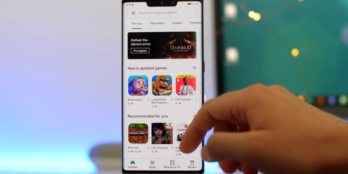 Huawei Mate 30 avec Google Play Store