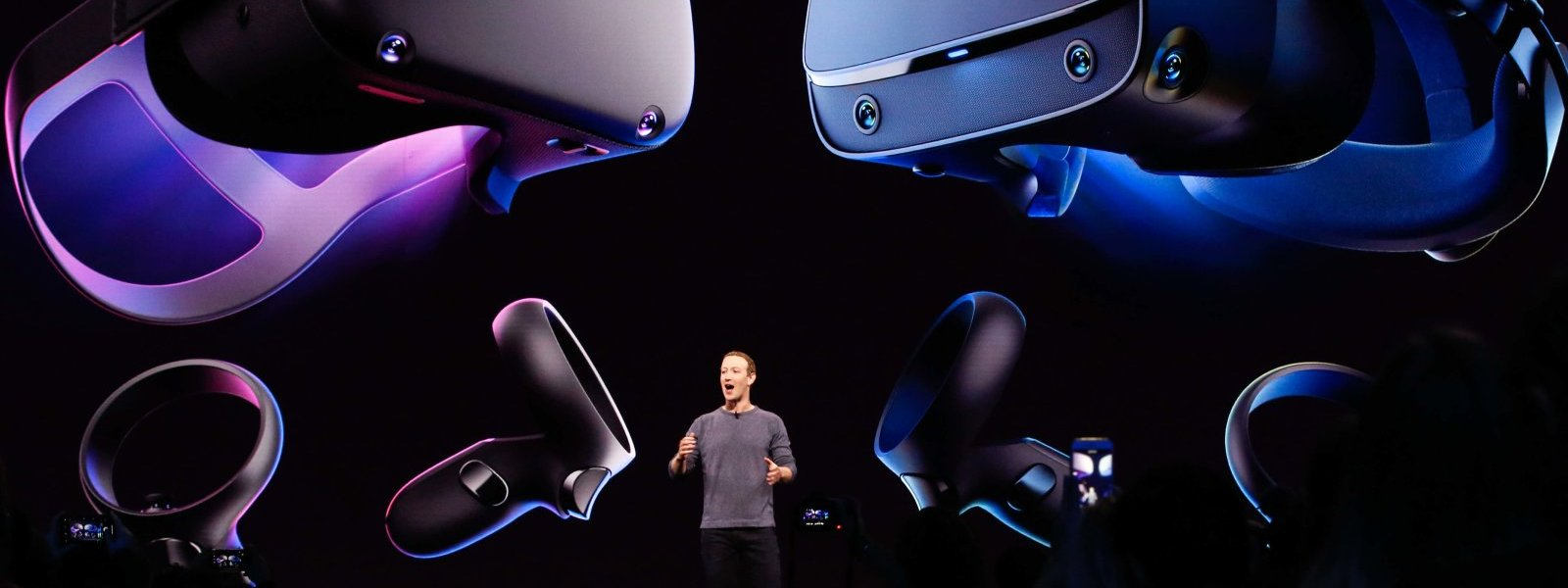 Mark Zuckerberg présentation d'appareils Oculus