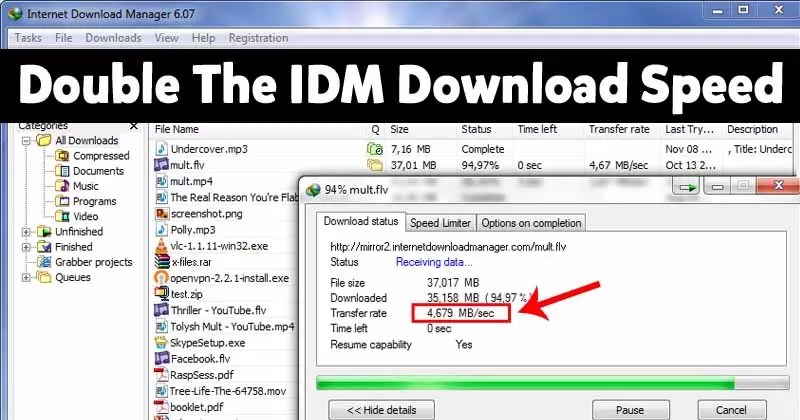 How To Double The IDM Download Speed On Windows