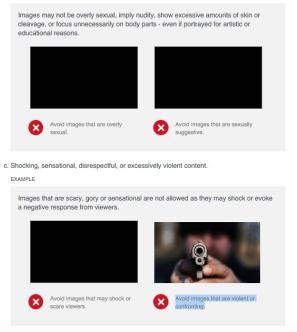 Algunas imágenes violentas han sido restringidas en Facebook.