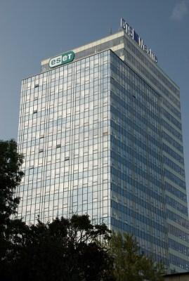 Vista de los cuarteles generales de ESET en Bratislava, Eslovaquia.