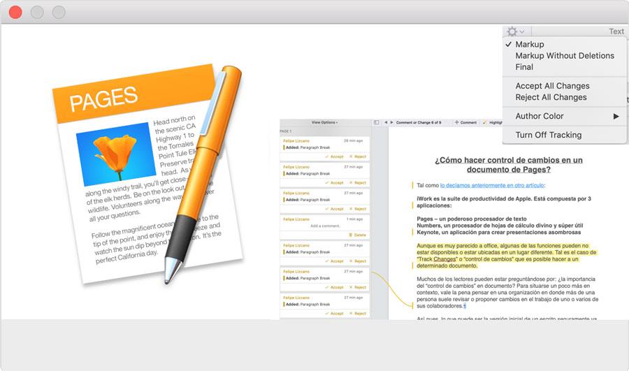 ¿Cómo hacer control de cambios en un documento de Pages? - TECHcetera