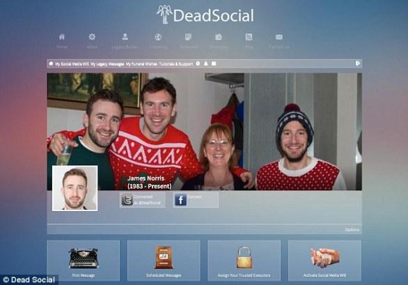 La red social donde se puede enviar mensajes desde el más allá