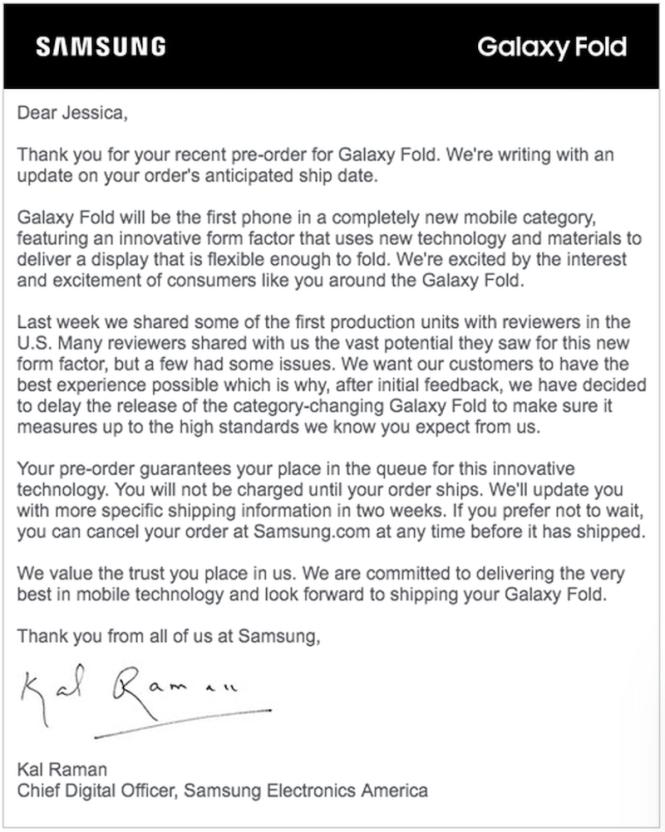 Samsung pospone el lanzamiento del Galaxy Fold   TECHcetera