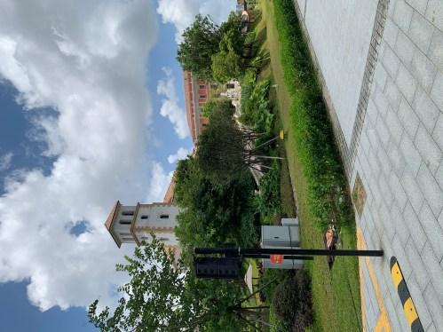 Zonas peatonales del campus empresarial Huawei