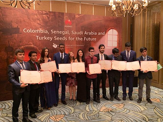 Participantes del programa de Huawei
