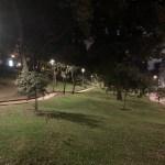 Fotografía de un parque nocturno con el iPhone 11