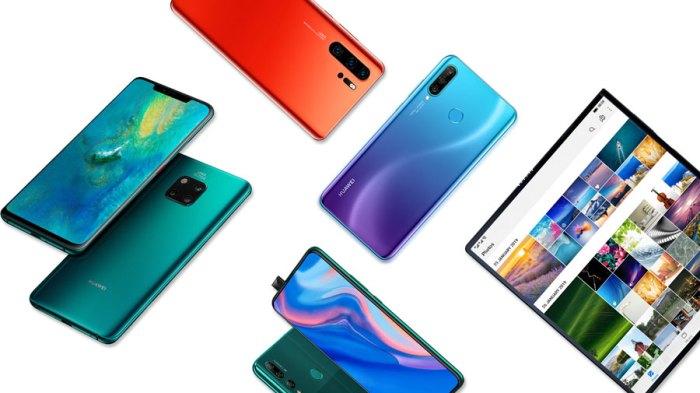 Smartphones Huawei del 2019