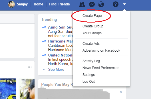 How to make a facebook page snap 1