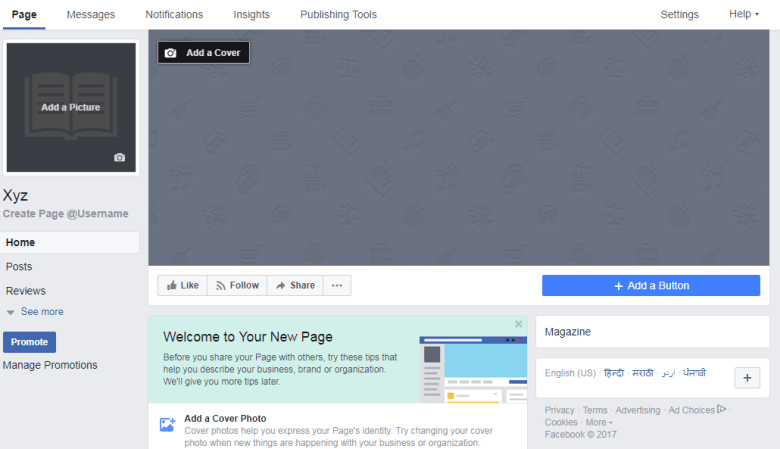 How to make a facebook page snap 7