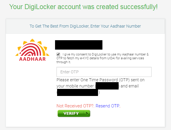 How to Get a DigiLocker Account Screenshot 5