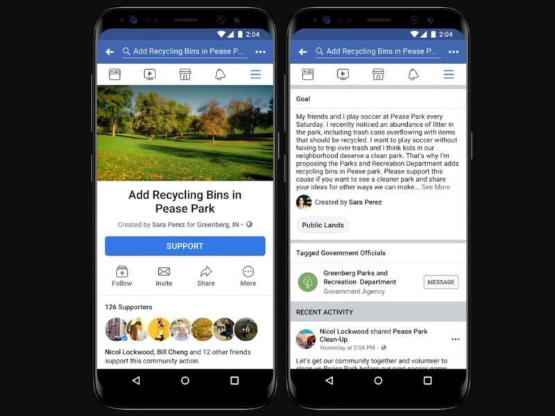 Facebook Rolls out Community Actions Petition Feature Tomorrow