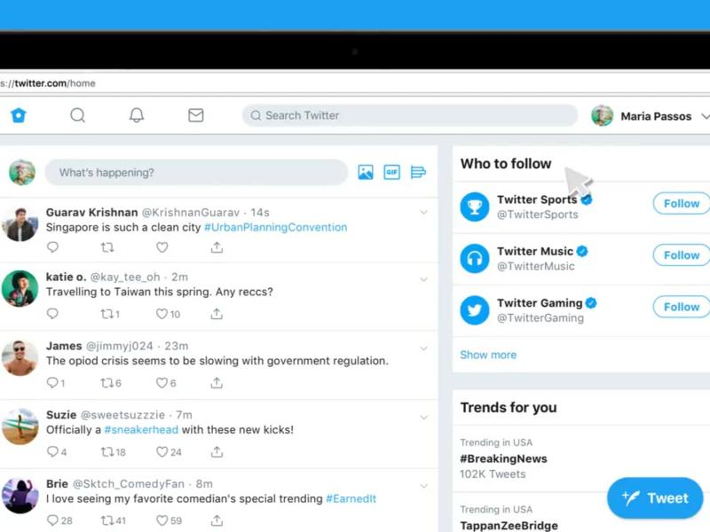 Twitter New Web Interface