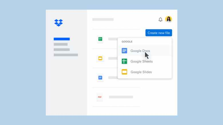 Create and Edit Google Docs, Sheets and Slides Inside Dropbox