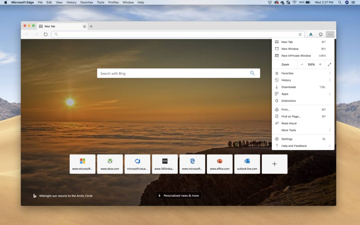 MacOS users can now install Chromium Based Microsoft Edge Browser