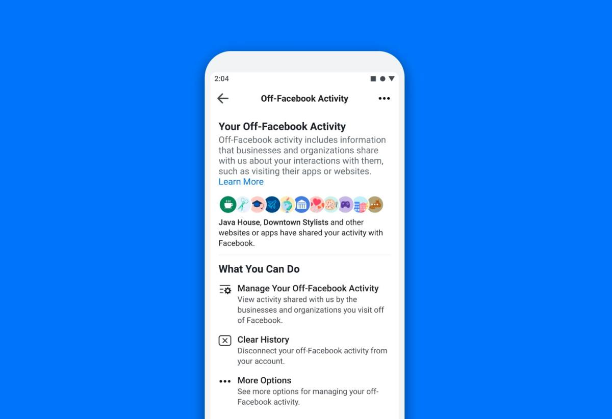 Facebook Clear History Option