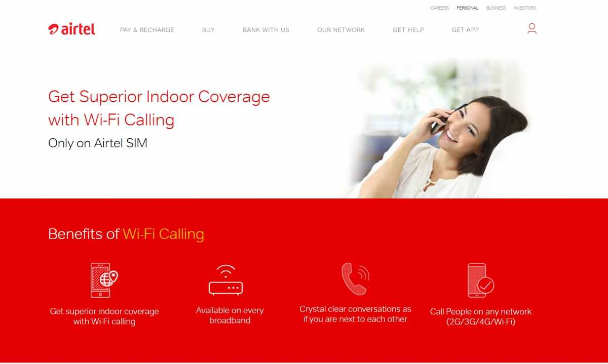 Airtel WiFi Calling now works with any broadband connection