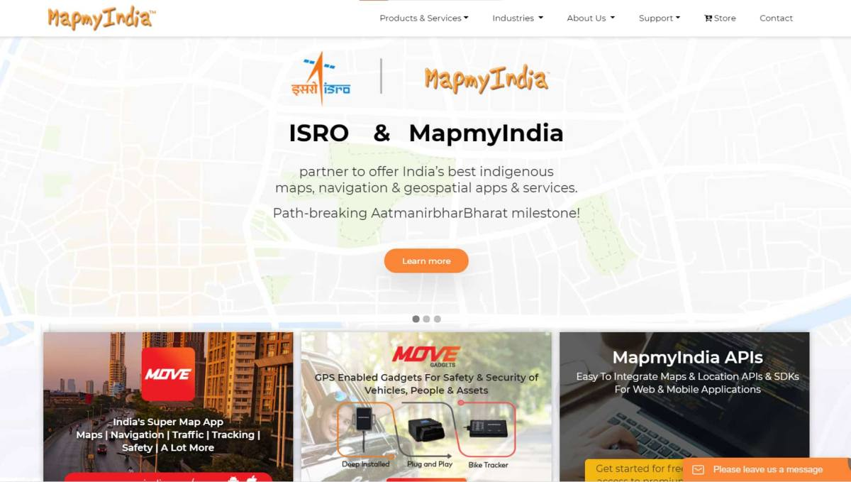 ISRO Partnered with MapmyIndia to create India's Own Mapping Portal