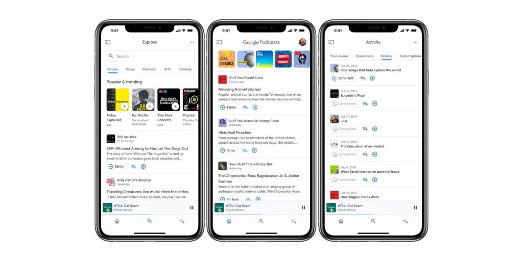 Google Podcasts with New Design Rolls Out on iOS