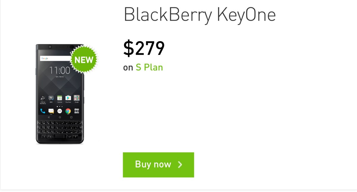 StarHub is selling BlackBerry KeyOne