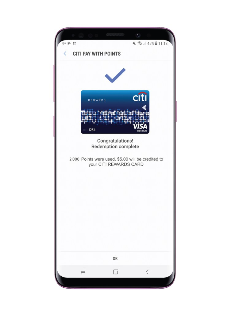Citi Pay with Points now on Samsung Pay