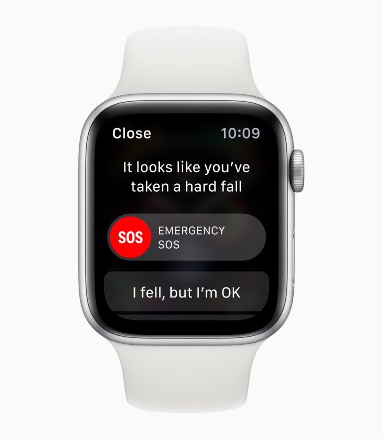 apple watch series4 sos emergency services_