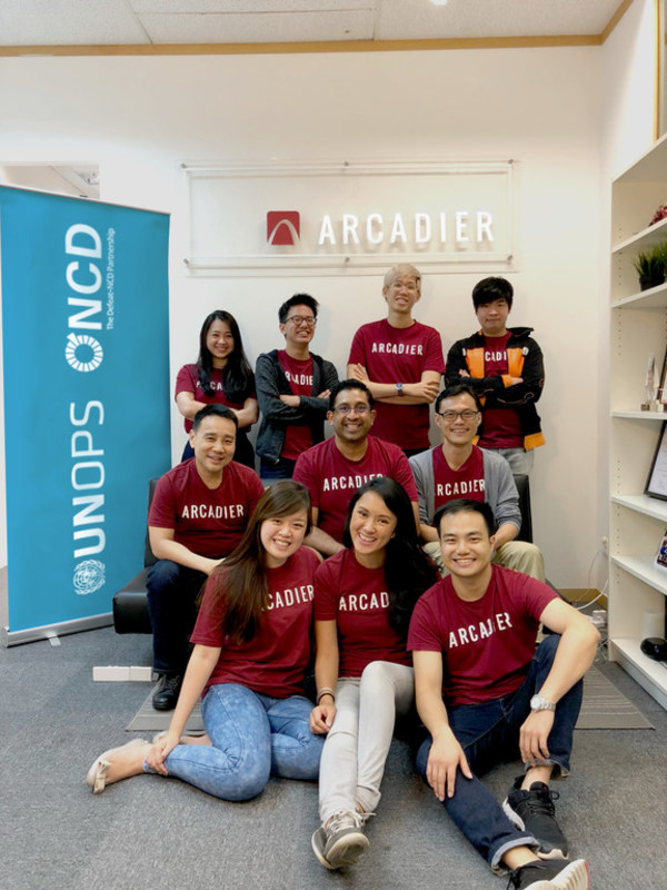 The Arcadier Defeat-NCD Marketplace development team. Courtesy of Arcadier