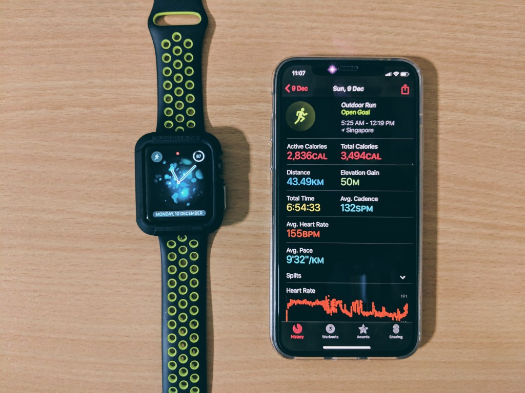 Apple Watch battery life after marathon