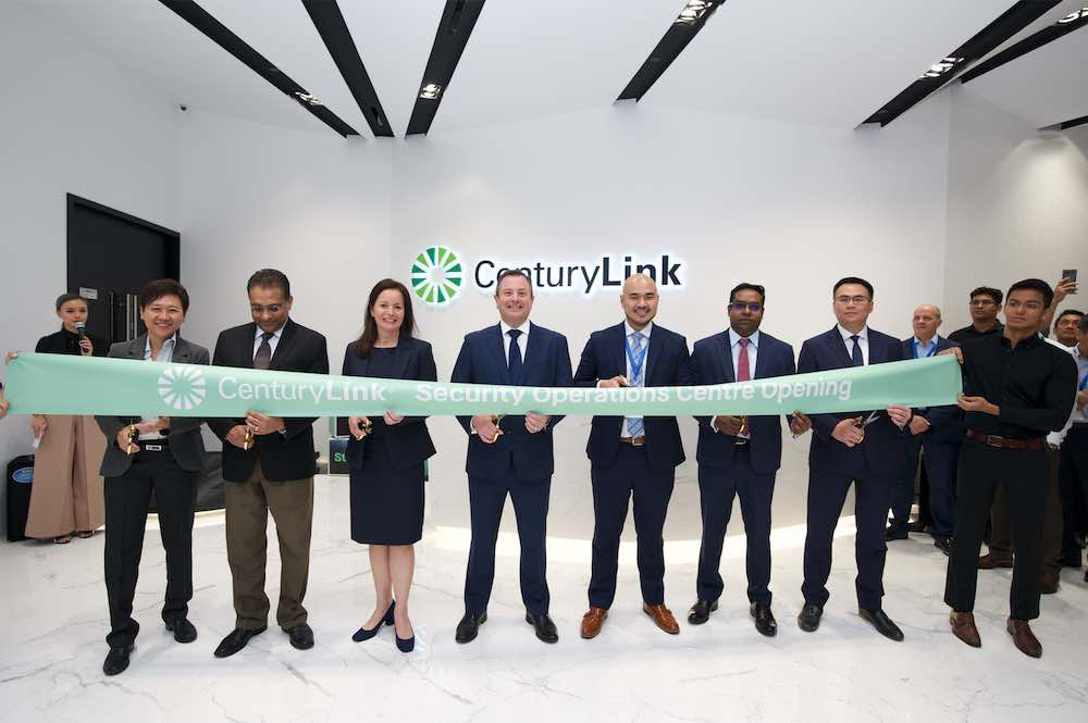 Ribbon cutting at CenturyLink's Security Operations Center Launch