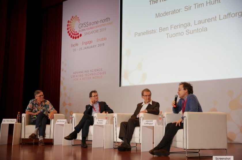 GYSS speakers at a panel discussion on the topic of the human side of science | Tech Coffee House