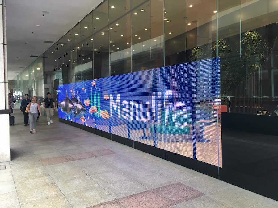 LG breaks new ground with its first colour transparent LED film at the Manulife Tower   Tech Coffee House