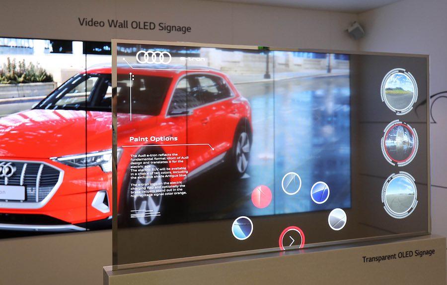 LG Transparent OLED Signage at LSE 2019