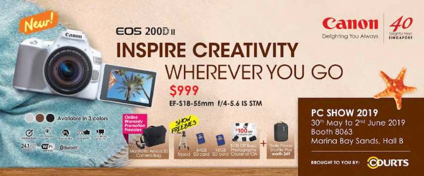 Canon promos at the PC Show 2019