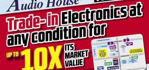 Trade-in your electronics at Audio House, valid till 25 July