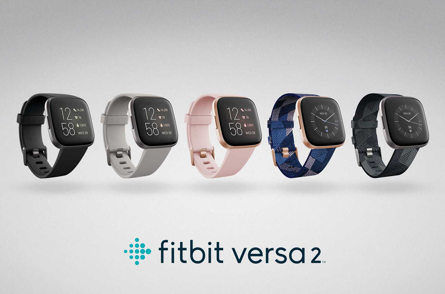 Fitbit Versa Family Accessory Band Official Fitbit Product Charcoal//Orange Small Woven Reflective