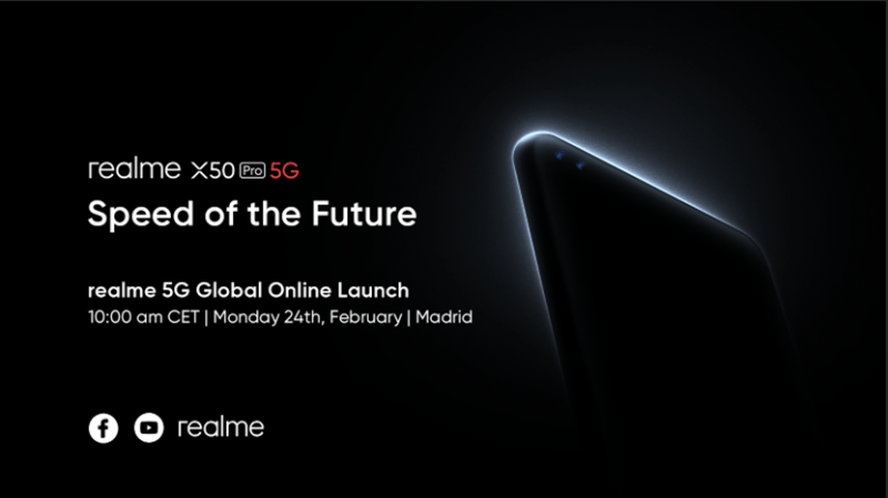 realme to hold a global online event marking its first 5G flagship smartphone launch – realme X50 Pro 5G