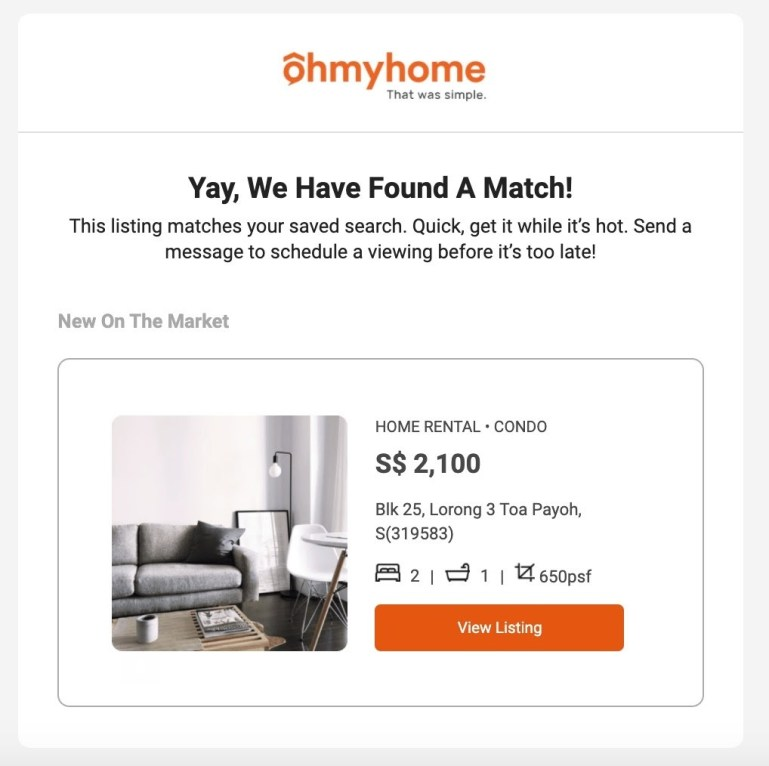 Ohmyhome launches Smart Matching Feature Ohmymatch™ Making Active Searching Even Easier