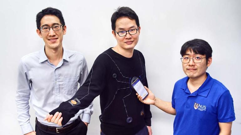 NUS develops smart suit wirelessly powered by a smartphone