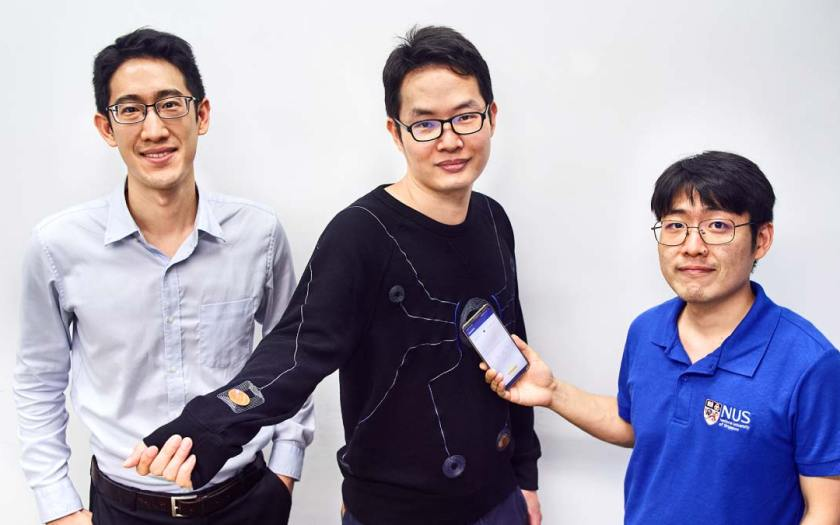 NUS develops smart suit wirelessly powered by a smartphone