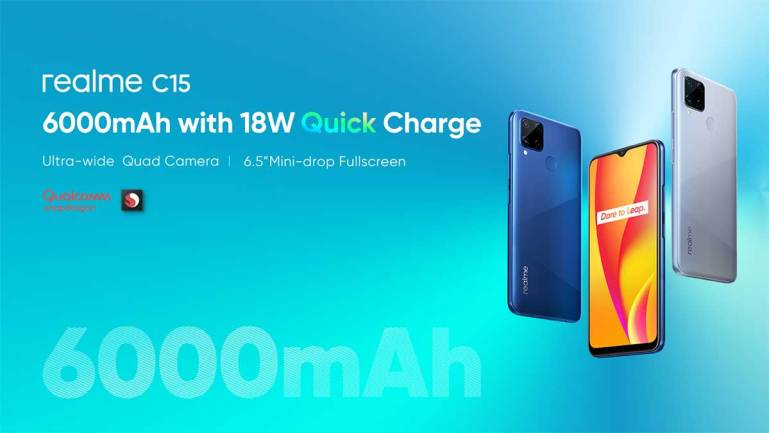 realme C15 launched as realme's first smartphone with 6,000mAh battery and 18W Quick Charge